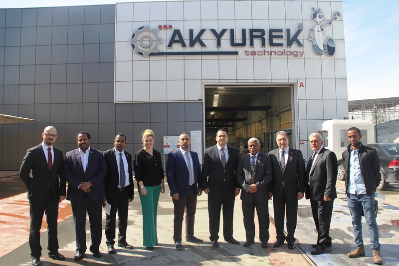 Ayalew Gobezie Workneh, Ankara Ambassador of the Federal Democratic Republic of Ethiopia, visited our company.