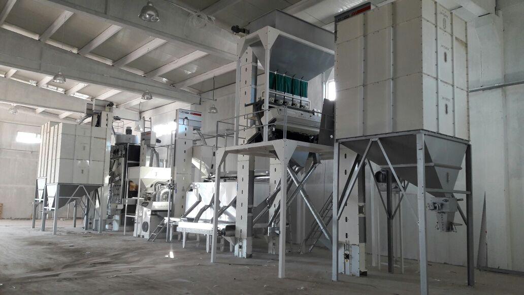 2T/H Sunflower seed cleaning screening facility - Akyurek