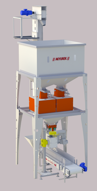Double Scale Net Weigher & Bagger-5 to 50 kg
