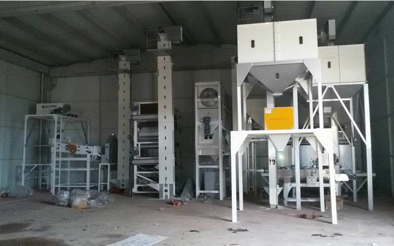 Seed cleaning plant with 5 tons/hour In Turkey
